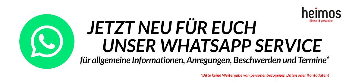 WhatsApp Service jetzt für das Studio in Untergriesbach und Fürstenzell